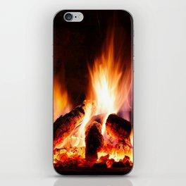 Fireplace iPhone Skin