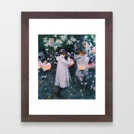 John Singer Sargent Carnation Lily Lily Rose Framed Art Print
