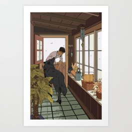 The Mudroom Wolf Art Print