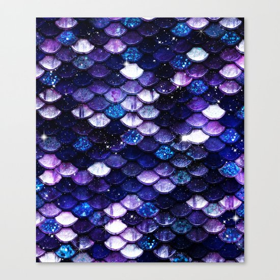 Mermaid Glitter Scales Canvas Print