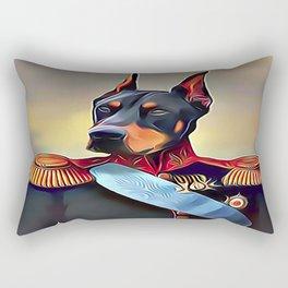 Field Marshal Doberman Pinscher Rectangular Pillow
