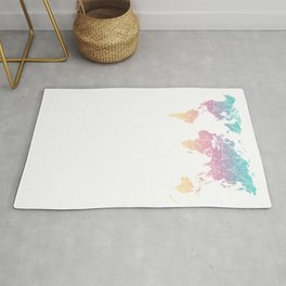 World Map Pastel Rug