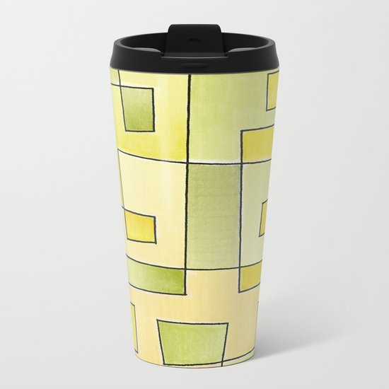 "Proto pattern n 2 ""fresh lemonade"" Metal Travel Mug"