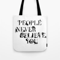 catcher in the rye Tote Bags featuring The Catcher in the Rye by raeuberstochter