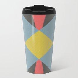 Blue gray Metal Travel Mug