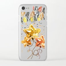 Best Wishes Clear iPhone Case