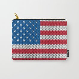 American Flag - knitted Carry-All Pouch