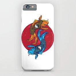 Koi carp art Ying & Yang Fish lover  iPhone Case