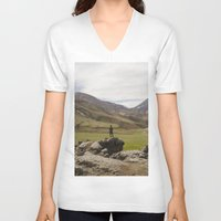 iceland V-neck T-shirts featuring ICELAND I by Gerard Puigmal