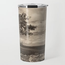 One tree in the mountains Travel Mug