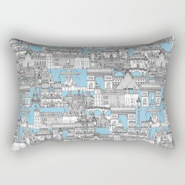 Paris toile cornflower blue Rectangular Pillow