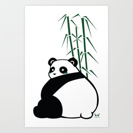Big Butt Panda Art Print