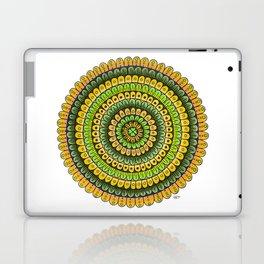 Lucky Shamrock Green and Gold Mandala Colored Pencil Illustration by Imaginarium Creative Studios Laptop & iPad Skin