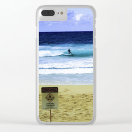 Surfer North Shore Clear iPhone Case