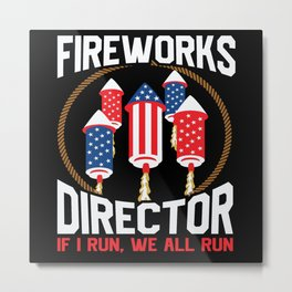 Fireworks Director America 4 Th July Metal Print