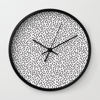 memphis Wall Clocks featuring Memphis by Sandy Cary