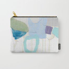 stone by stone 2 - abstract art fresh color turquoise, mint, purple, white, gray Carry-All Pouch