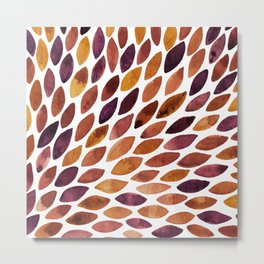 Watercolor brush strokes burst - late autumn palette Metal Print