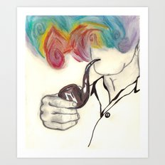 Blowing Smoke Art Print