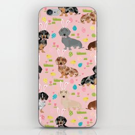 Dachshund easter spring dog costume pet portrait dog breed doxie iPhone Skin