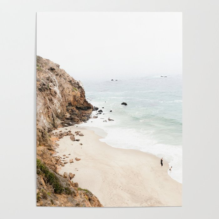 Malibu California Beach Poster