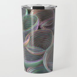 Colorful spiraled coils Travel Mug