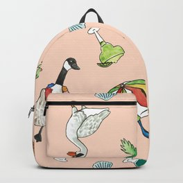 Tropical Goose Paradise Backpack