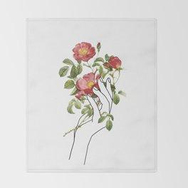 Flower in the Hand II Throw Blanket