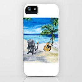 Beach Time with Martin iPhone Case
