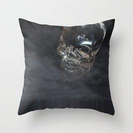 Smoking Skull cloud Throw Pillow