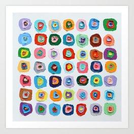 Concentric Polka Daubs No.3 Art Print