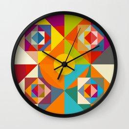 Camahueto - Abstract Colorful Shapes Wall Clock