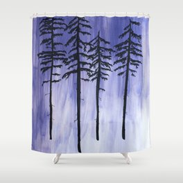 Lavender Pine Trees Shower Curtain