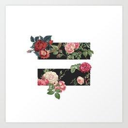 floral equality symbol Art Print