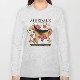 Airedale Terrier Seed Company artwork by Stephen Fowler Long Sleeve T-shirt