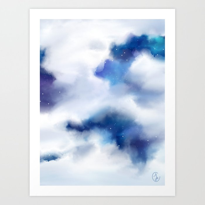 Amongst the Clouds Art Print