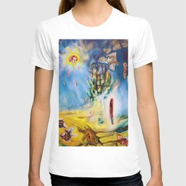 Terrestrial Riviera Landscape Abstract Expressionism by R. Matta T-shirt
