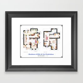 Floorplans of the house from UP Framed Art Print