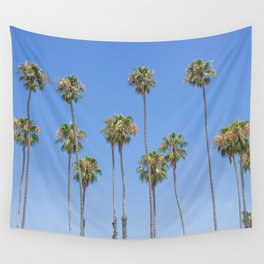 Palm Trees and Blue SKy Wall Tapestry