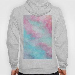 Artistic pastel girly pink teal trendy watercolor Hoody