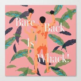 Bareback Banana Leaves Canvas Print