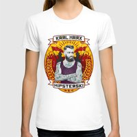 marx T-shirts featuring Karl Marx Hipster by Ferguccio