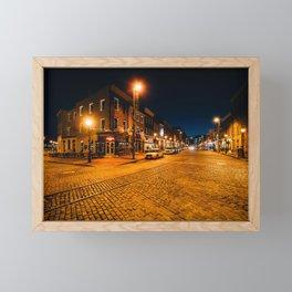 Thames Street Cobblestone Framed Mini Art Print