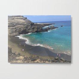 Papakolea (green sand beach) Metal Print