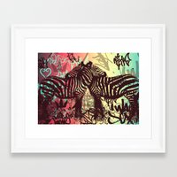 zebra Framed Art Prints featuring ZEBRA by Nechifor Ionut