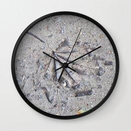 """Sidewalk Fossil"" Wall Clock"