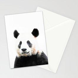 Panda Watercolor Panda Bear Portrait Stationery Cards