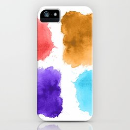 watercolor patch collection iPhone Case