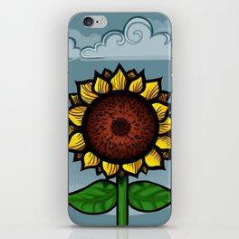 kitschy sunflower iPhone Skin