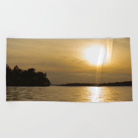 Against The Sun Bridge Beach Towel